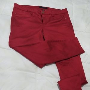 Red Tinsel skinny ankle pants